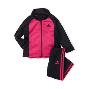 Adidas(Infant Girls) Two-Piece Track Jacket & Tricot Pants Set