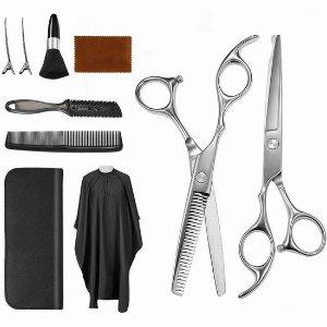$34.72(Walmart$46.96)Vtrem 不锈钢专业理发剪刀+围布+梳子+发夹套装