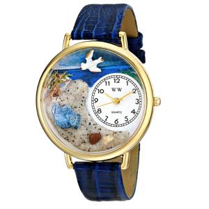 $13.96(原价$41.94)Whimsical Watches 手表 日本机芯 内置精致浮雕画