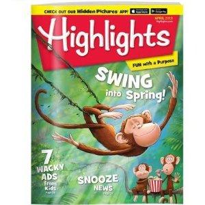 $29.64(原价$71.88) 送两件好礼Highlights 儿童杂志全年12本 陪伴几代美国孩子成长