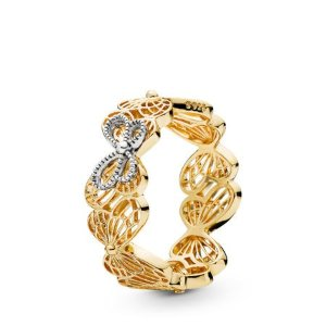 Pandora封面同款花园西利 镂空蝴蝶戒指