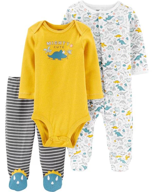 婴儿恐龙3件套
