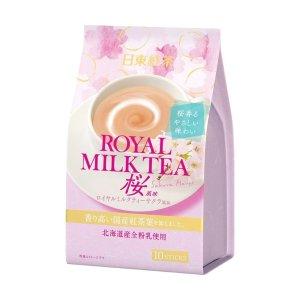日东红茶 皇家奶茶速溶包 樱花限定口味 10枚入
