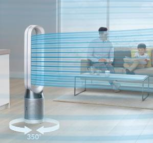 Dyson Pure Cool Lin tower purifier fan in nickel @ Dyson