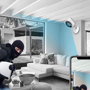 $42.49(原价$89.99)史低价:ZZCP WiFi 安全摄像头 苏大强独自在家也不怕