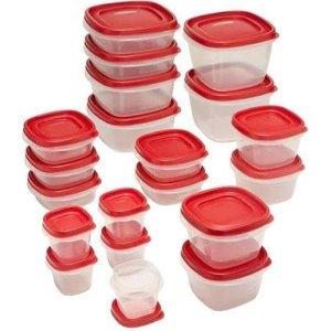 白菜价:Rubbermaid 保鲜盒40件套