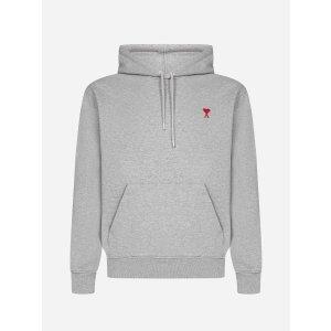 Ami ParisAmi-de-Coeur logo cotton hoodie