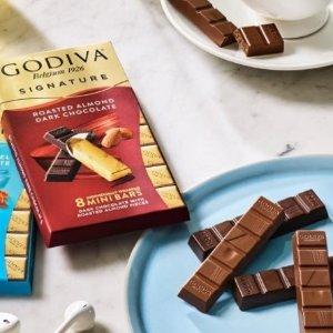 无门槛8.5折 77p入巧克力棒Godiva 饼干、巧克力棒礼盒促销