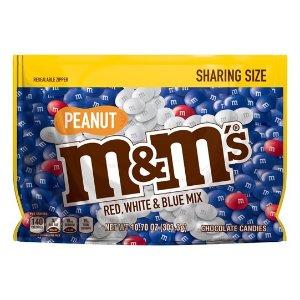 M&M'S 红白蓝装花生巧克力豆 10.7oz分享装