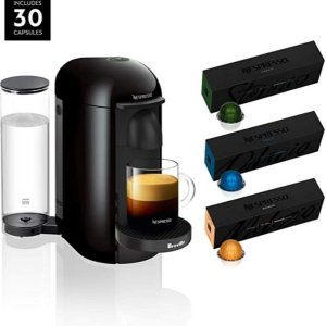 $99.99Nespresso VertuoPlus Coffee and Espresso Maker by Breville, Ink Black with BEST SELLING COFFEES INCLUDED