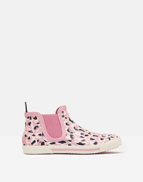 女童豹纹低帮雨靴