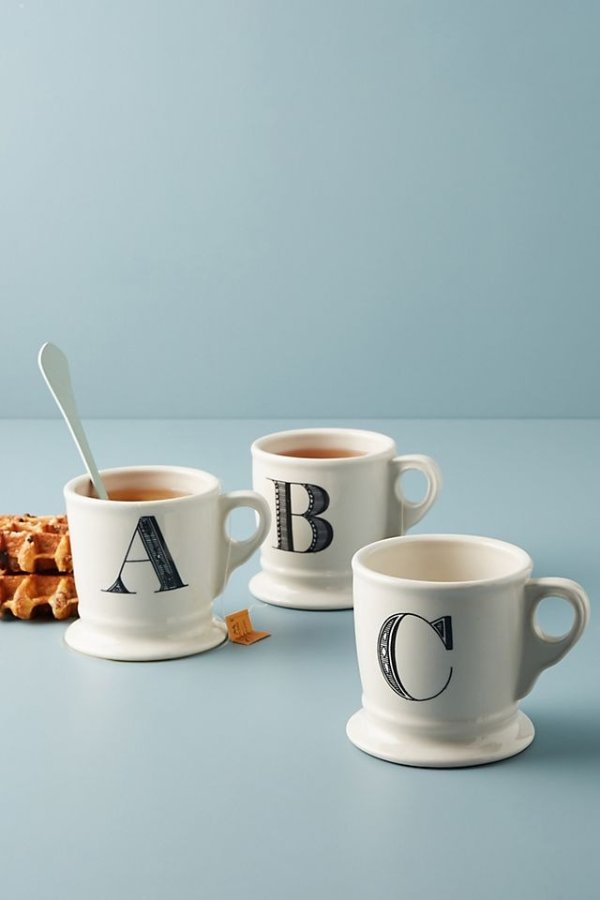 字母咖啡杯