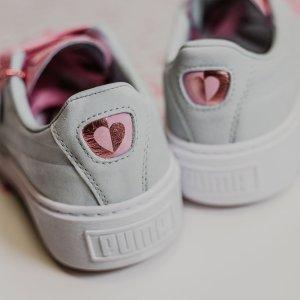 $55(原价$110) + 无门槛免邮Puma 2018最新限量款情人节粉心鞋5折收