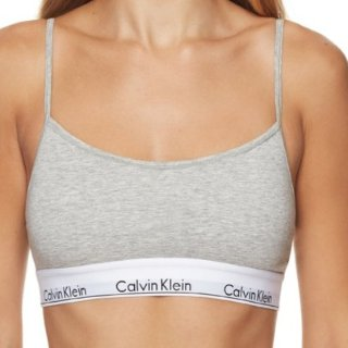 $19.95(原价$49.95) 经典款必入Calvin Klein 灰色经典款棉质女士内衣背心