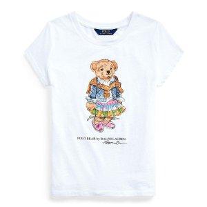 RL 女大童小熊短袖T