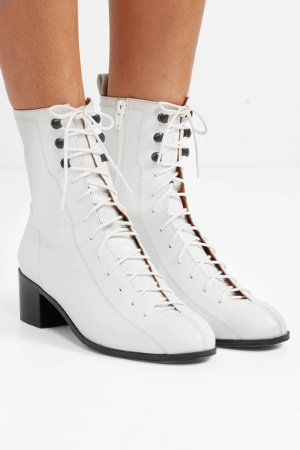 BY FAR | Bota lace-up leather ankle boots | NET-A-PORTER.COM