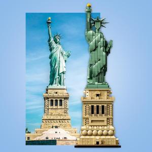 9折 $127(原价$139.99)LEGO 建筑系列 自由女神像 1685颗粒 精致还原 必备摆件