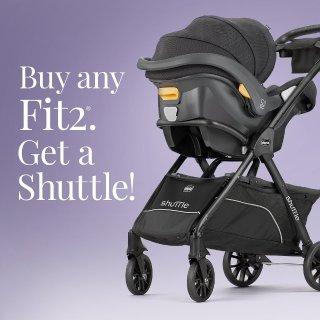 免费Shuttle 车架 立省$119.99Chicco Fit2 婴幼儿安全座椅热卖