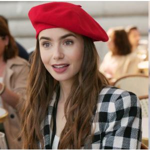 Galeries Lafayette3折!艾米丽在巴黎同款多色可选法式贝雷帽