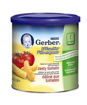 $10.62大人也爱吃: Gerber嘉宝各种水果口味宝宝泡芙条、星星饼干特卖