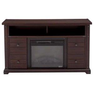 Home Decorators Collection Brannen 60寸电视柜带电子壁炉,三色可选
