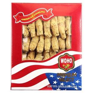 WOHO购物$100或以上再减15%,低至$26.34/盒精选美国花旗参#132.4 短枝中号4oz盒装