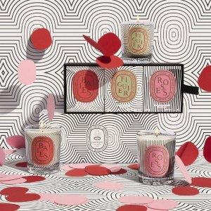 送浆果香挂+送高级沐浴三件套+送5小样上新:Diptyque 60周年纪念系列香氛蜡烛 「椭圆之舞」线条美学