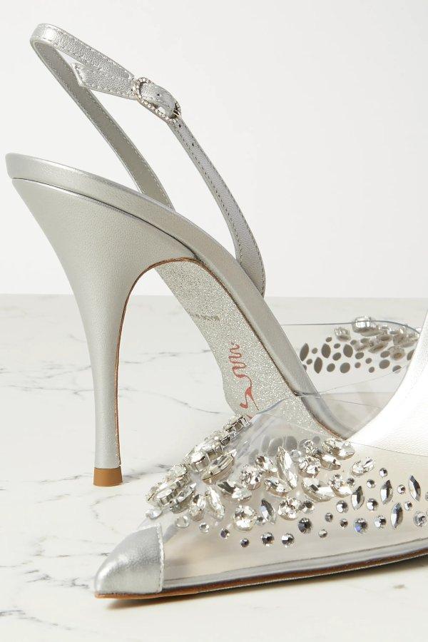 Claire crystal-embellished 水晶高跟鞋