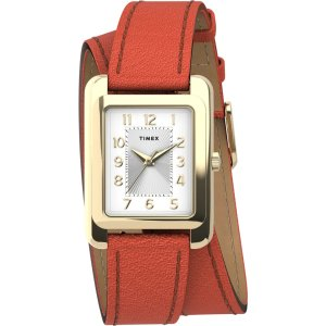 TimexAddison 25mm Double Wrap Leather Strap Watch - Timex US