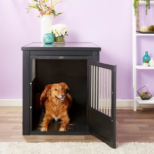 New Age Pet ecoFLEX Crate & End Table, Espresso, X-Large - Chewy.com