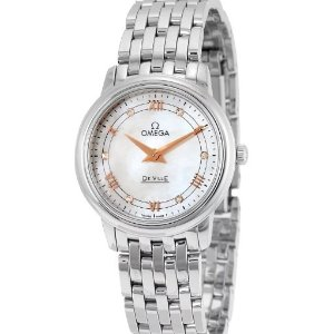 OmegaDeVille Mother of Pearl Dial Ladies Watch 42410276055001