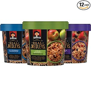 $12.91Quaker Real Medleys Oatmeal+, Variety Pack, Instant Oatmeal+ Breakfast Cereal (12 Cups) (Packaging May Vary) @ Amazon