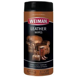 $3.77Weiman 皮革清洁滋养护理湿巾 30片