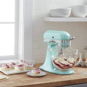 $369.99收封面款 低至6.7折KitchenAid 厨师机热卖 5Qt容量 10档变速 揉面搅拌烘培必备