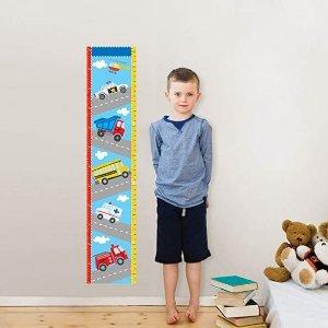 $17.33(原价$28)WallPops 交通运输图案儿童量身高墙上贴纸