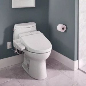 TOTOSW2034#01 Cotton Washlet C100 Elongated Soft Close Bidet Seat with Dual Action Spray