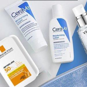 低至75折 仅€8收氨基酸泡泡洁面药妆全场热促 理肤泉 Vichy统统参加 干皮敏感肌放心入