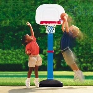 $34.97 (原价$39.99)Little Tikes EasyScore 可调节儿童篮球架套装