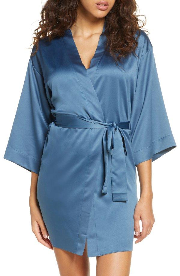 Victoria缎面睡袍