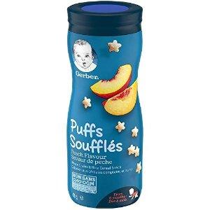 桃子味GERBER PUFFS 宝宝水果泡芙6瓶