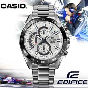 $97.76(原价$106.27)手慢无:Casio Edifice EFV-550D-7AVCR 太阳能不锈钢男表