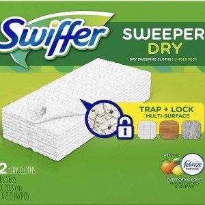 $7.57(原价$12.56)Swiffer Sweeper 拖把替换干拖布 32片
