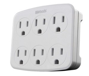 $6.53Woods 41196 Wall Adapter with 6 Grounded Outlets