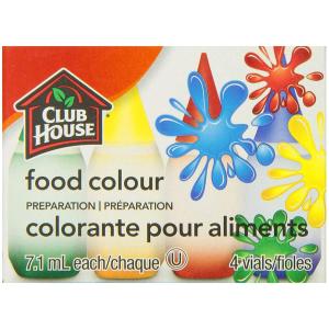 $1.43(原价$2.79)Club House 食用色素四色套装 可用来装饰蛋糕、饼干