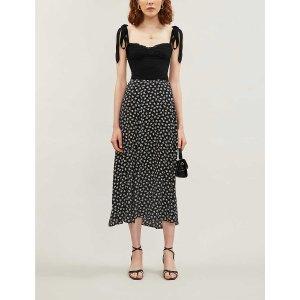 ReformationZoe floral-print crepe midi skirt
