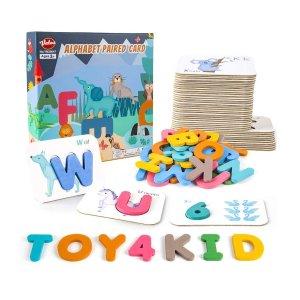 4折 $6.8收史低价:VATOS 学龄前儿童益智学习卡,字母、数字全包括