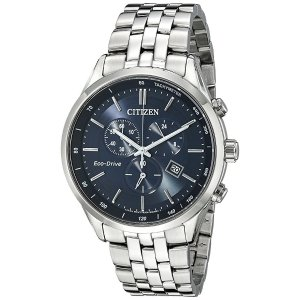 CitizenMen's Eco-Drive Chronograph Stainless Steel Watch with Date, AT2141-52L