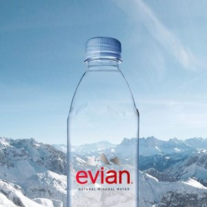 $13.68evian Natural Spring Water One Case of 12 Individual 1 Liter