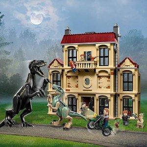 现价£99.99(原价£119.99)LEGO 侏罗纪世界2 75930 暴虐龙袭击洛克伍德庄园