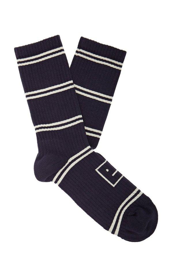 笑脸条纹袜子 双色可选